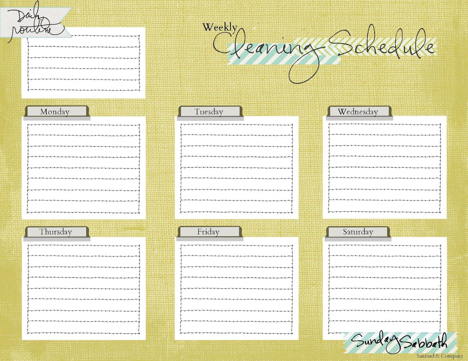 schedule print out for kids cleaning schedule printable freebie
