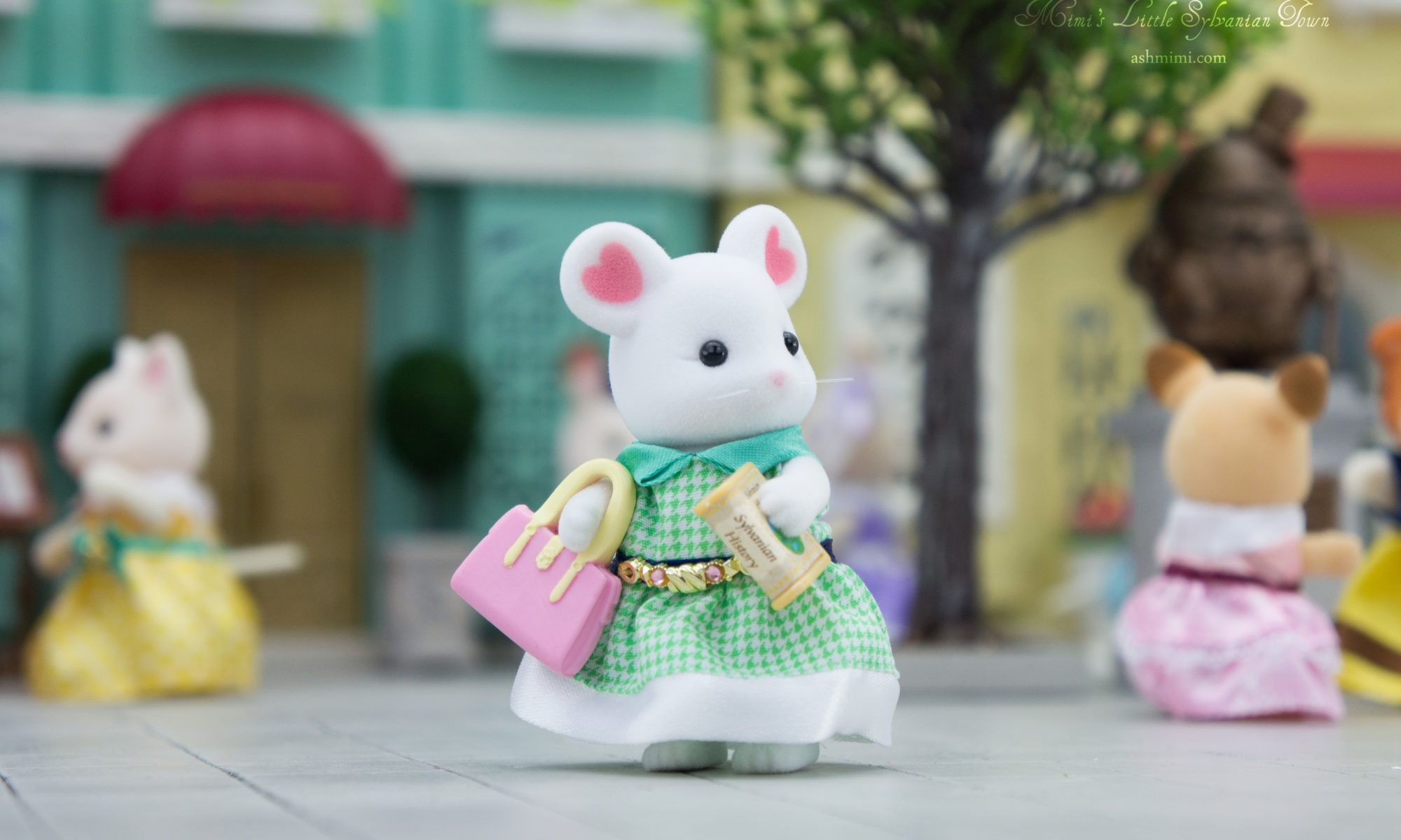 JP Sylvanian Families TVS-07 Town Girl Series Marshmallow Mouse
