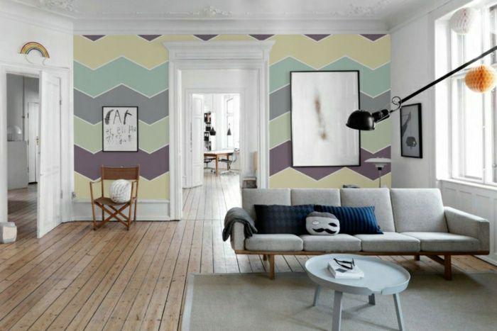 100 Wandfarben Ideen für eine dramatische Wohnzimmer-Gestaltung - wandfarben im schlafzimmer 100 ideen
