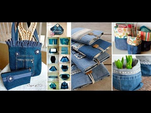 b04a503f98c Recycled Jeans Bags - YouTube   Up cycle jeans   Recycle Jeans ...