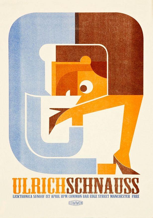 Rob Bailey - Licktronica poster - via James Wignall