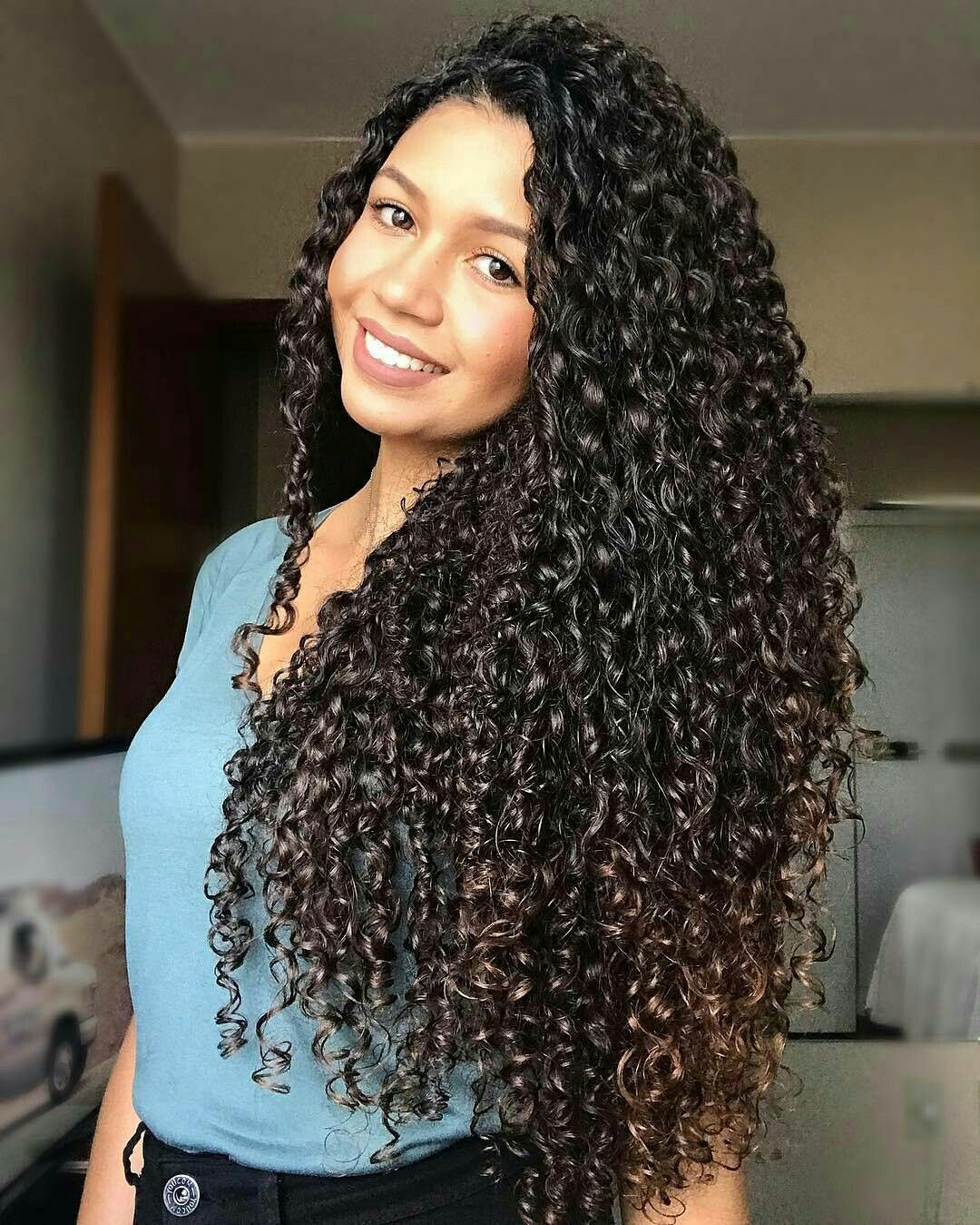 naturally hair Long curly