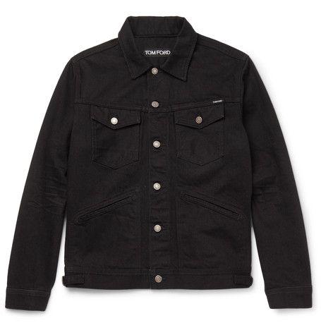 Tom Ford Slim fit Selvedge Denim Jacket | ModeSens