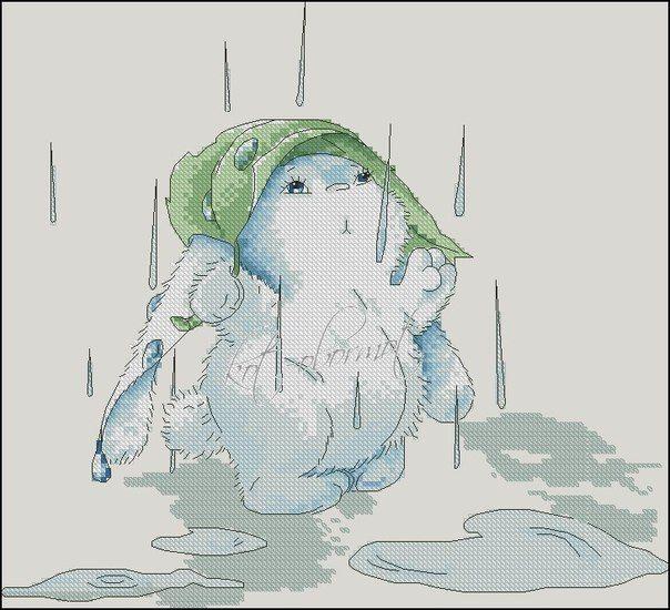 знаменитой заяц под дождем картинки оформлении
