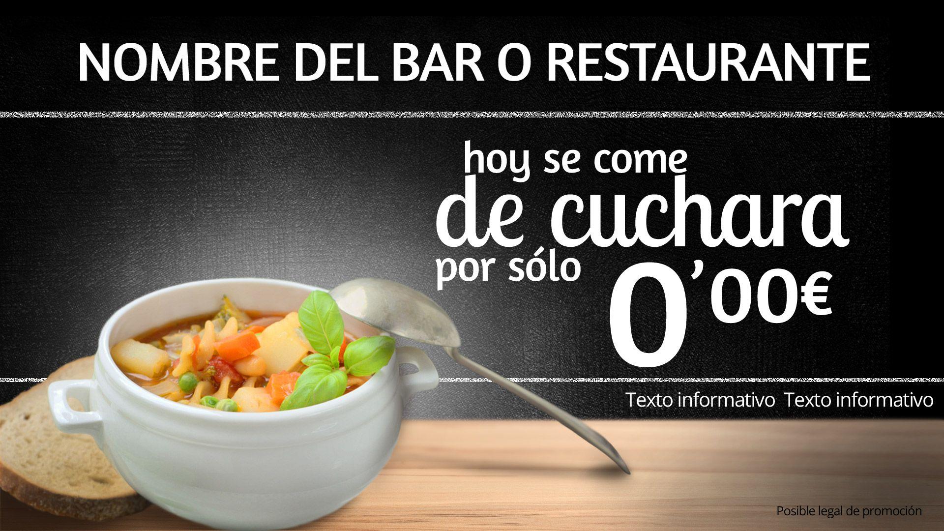 Plantilla para publicidad exterior para promocionar platos del bar ...
