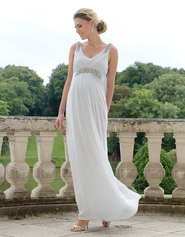 812642eda798e 19 of the Most Gorgeous Maternity Wedding Dress for Pregnant Brides ...