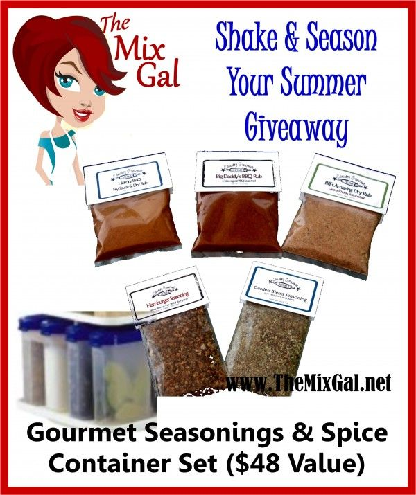 "2012 Savory Summer Blog-Hopping Multiple Giveaway Event! $48 Prize: ""Shake & Season Your Summer"" - Ends 05/30.  http://themixgal.net/2012-savory-summer-blog-hopping-multiple-giveaway-event-48-prize-shake-season-your-summer/#"