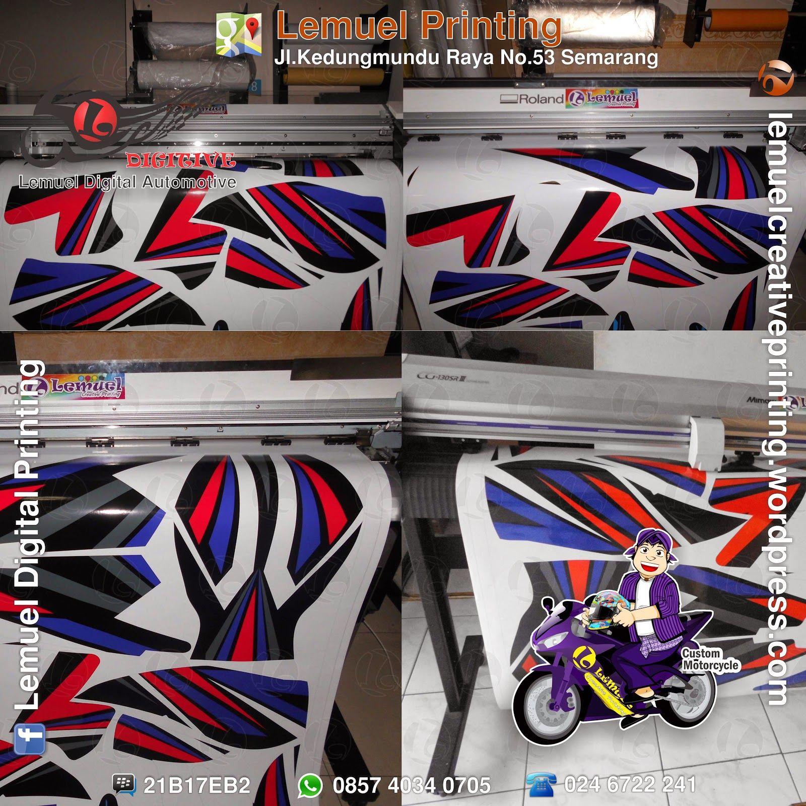Lemuel decal vinyl striping motor full body di motor supra x 125 berkualitas by digitive