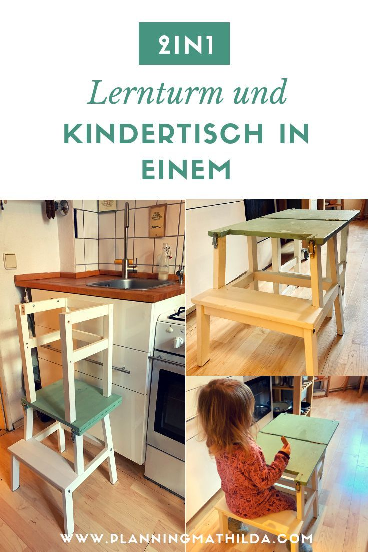 Photo of Lernturm und Kindertisch in einem – ein Ikea Hack | planning…