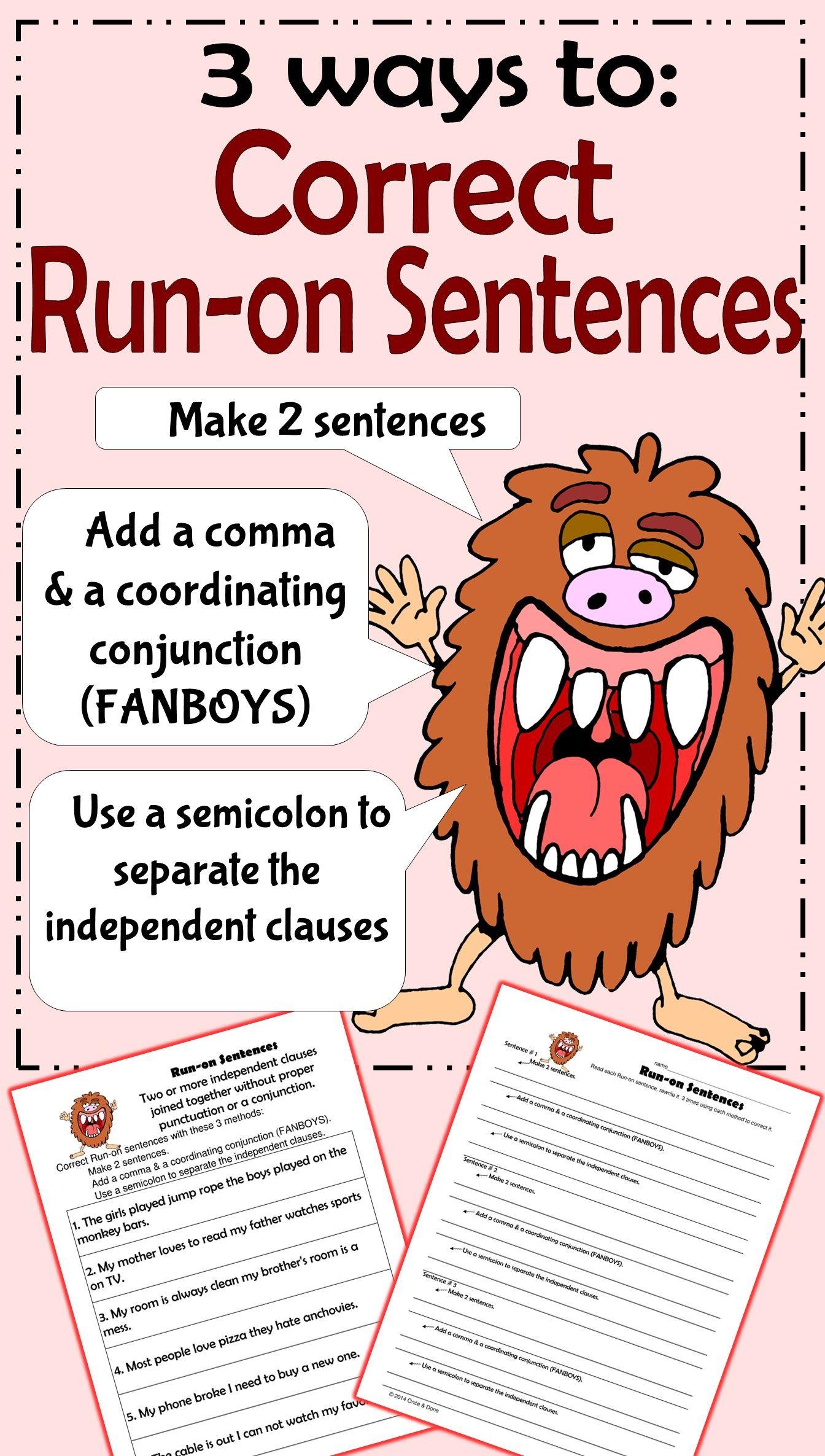 Run On Sentences Activity
