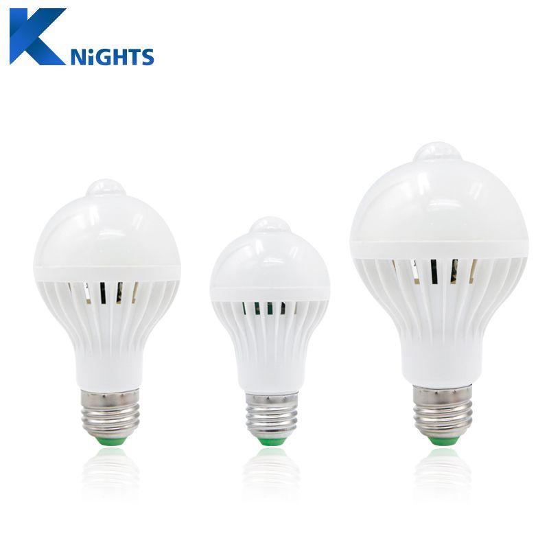 Ynl Pir Motion Sensor Lampu Led Bulb E27 220 V 5 W 7 W 9 W Smd 5730 Otomatis Cerdas Deteksi Led Inframerah Tubuh Motion Sensor Cahaya Lampe Ampoule Led Lamp