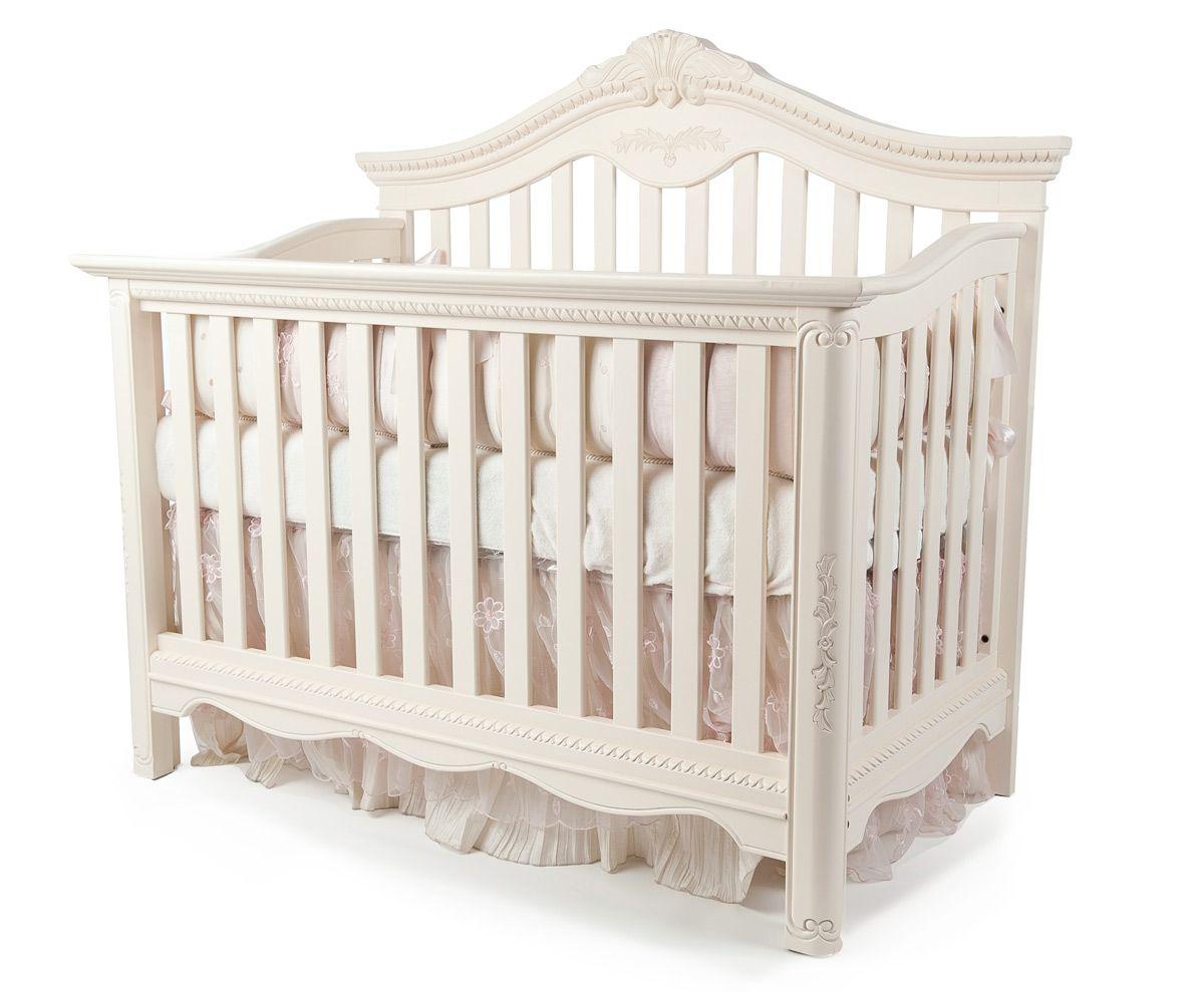 Savannah Lifetime Convertible Crib In Linen White By Munire