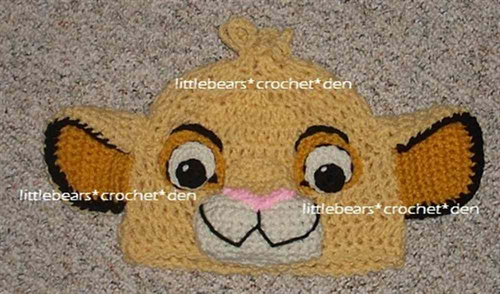 5eb7838fd384df LION KING DISNEY CUSTOM CROCHETED Boutique SIMBA Beanie Hat (Product Front)