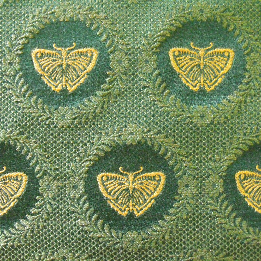 Lee Jofa Papillon Weave Cotton Rayon Green Gold Butterflies Upholstery Drapery