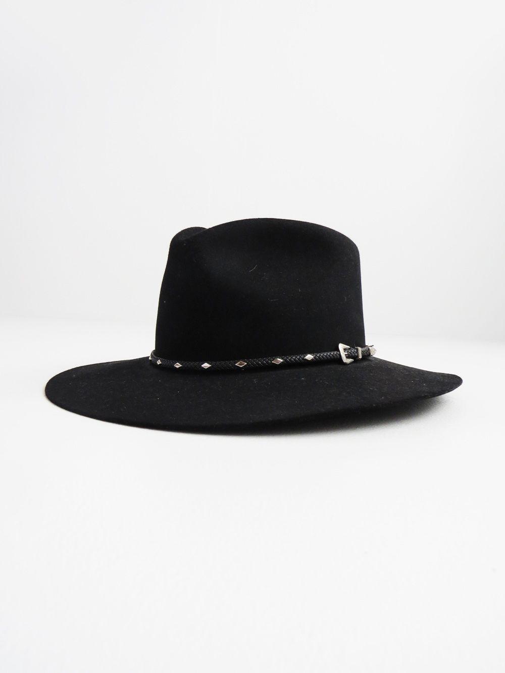 Black Stetson Hat    Vintage John B Stetson Hat  3dac71ebe5c