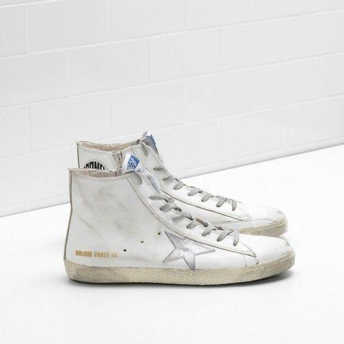 new arrival 87612 1f526 Sneakers Golden Goose Uomo Francy GGDB Scarpe Bianco Vitello ...