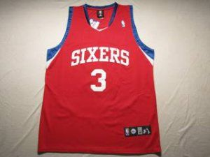 innovative design 8aa7c 7c8de Philadelphia 76ers Cheap NBA #3 Red Allen Iverson Jersey ...