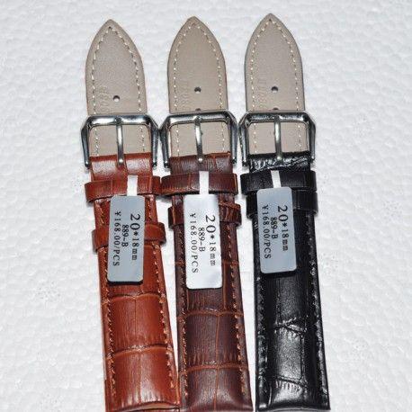 bracelet cuir montre homme 24 mm