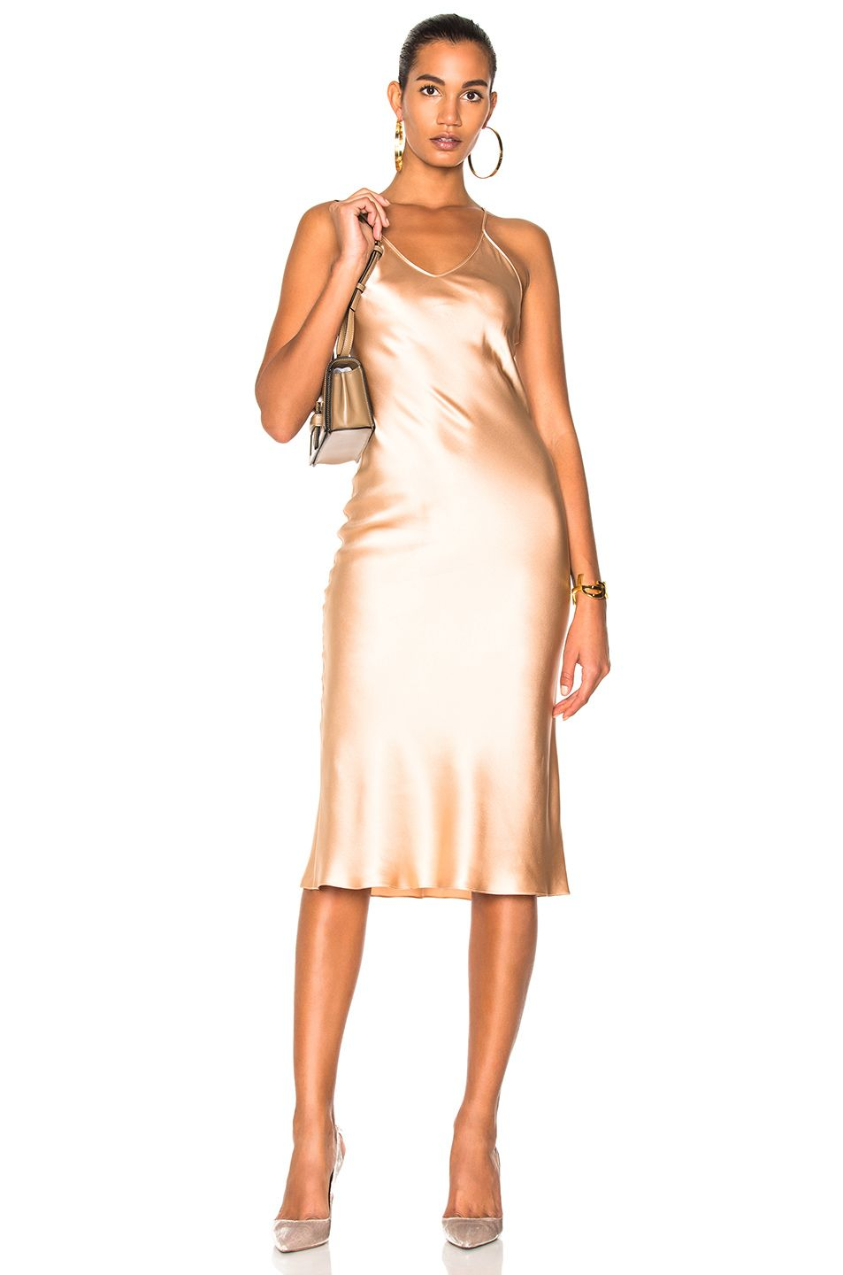 50% off half price really cheap Image 1 of Protagonist Classic Slip Dress in Bisque   Dresses ...
