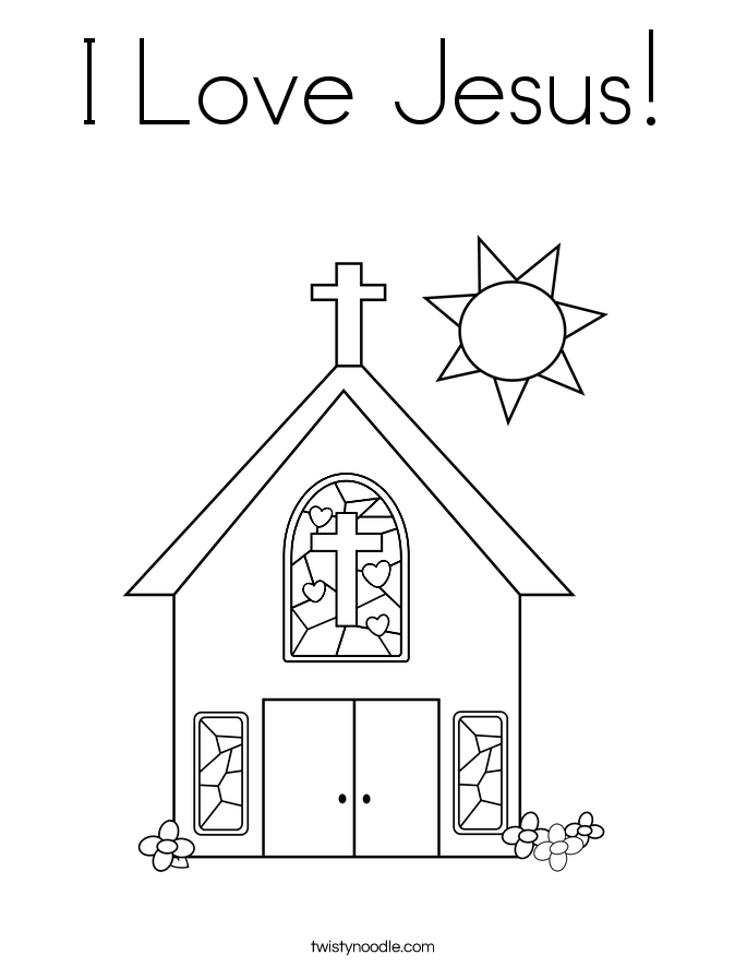 Coloring Pages I Love Jesus
