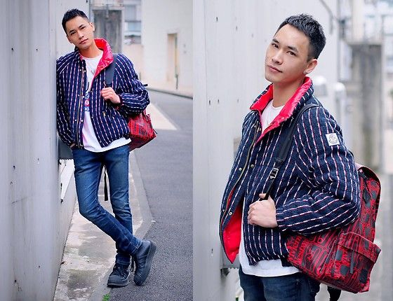 Get this look: http://lb.nu/look/8617985  More looks by Chris Su: http://lb.nu/chrissu82  Items in this look:  Vivienne Westwood Bag, Moncler Down Jacket