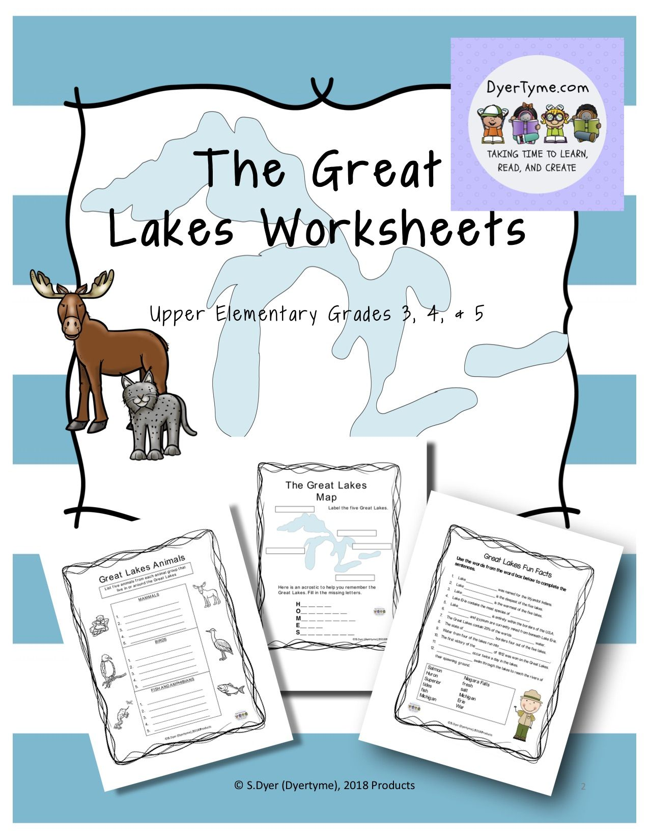 Three Great Lakes Worksheets That Can Be Added To Any
