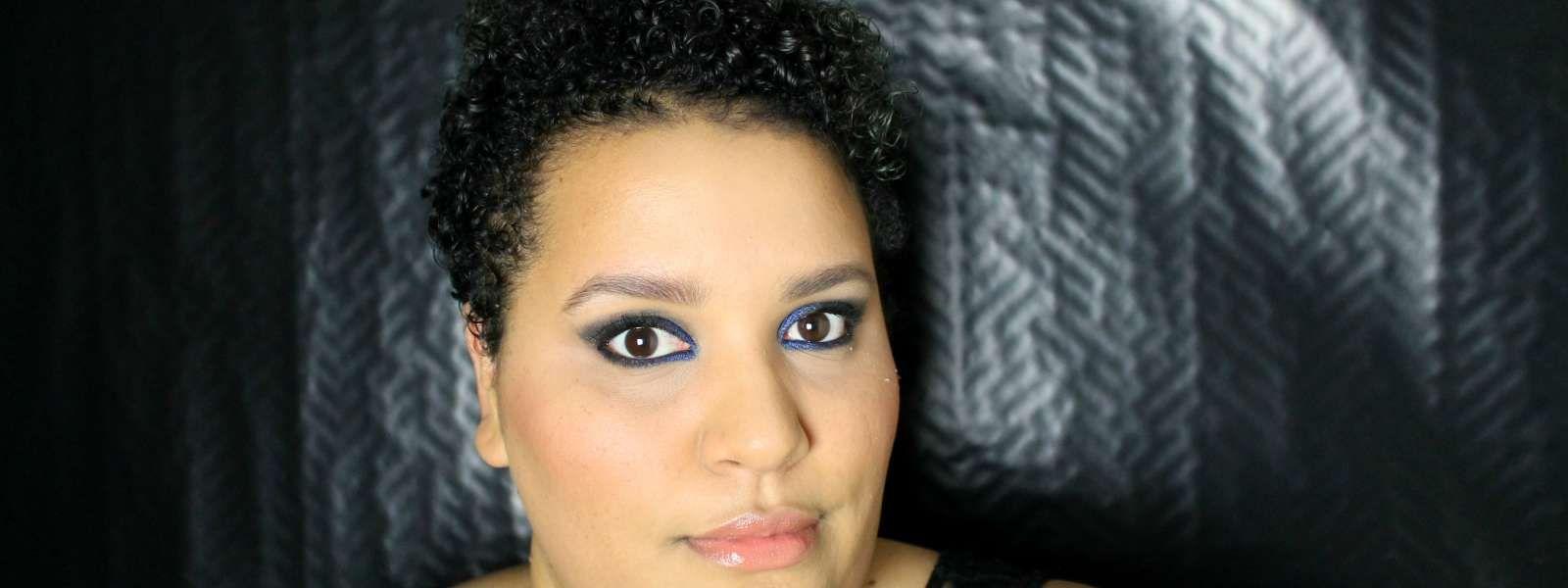 Lotw kristen stewartus cobalt smoky eye guys ium having a blue