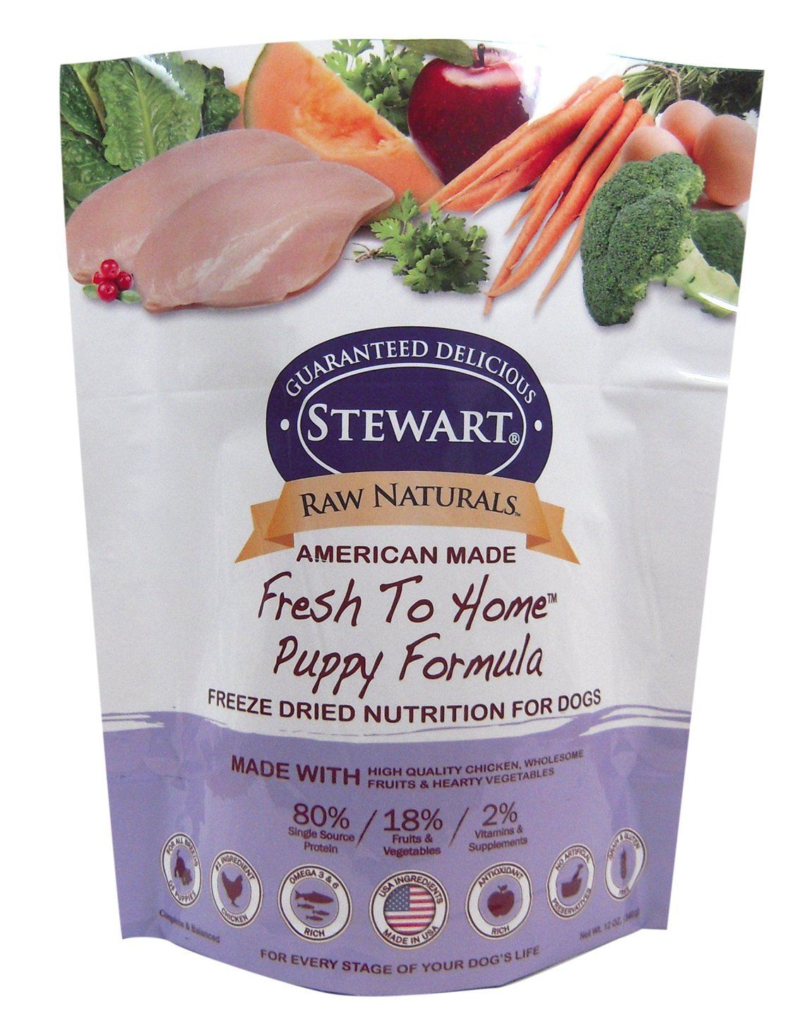 Stewart Raw Naturals Chicken Fresh To Home Puppy Formula Freeze Dried Food 1 Pack Wow I Love This Ch Puppy Food Freeze Dried Dog Food Freeze Drying Food