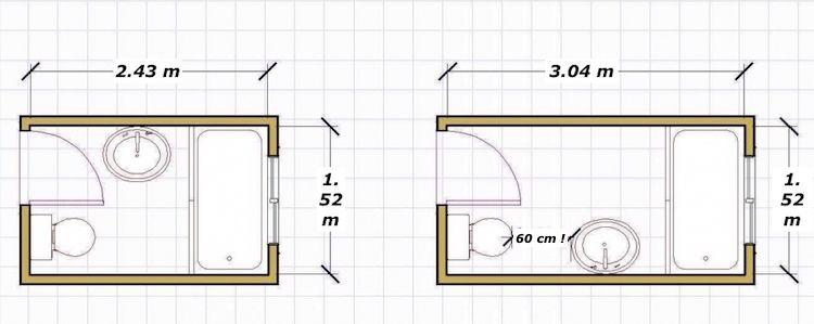 Agencement salle de bain de 2 à 5 m ² ou comment maîtriser le petit