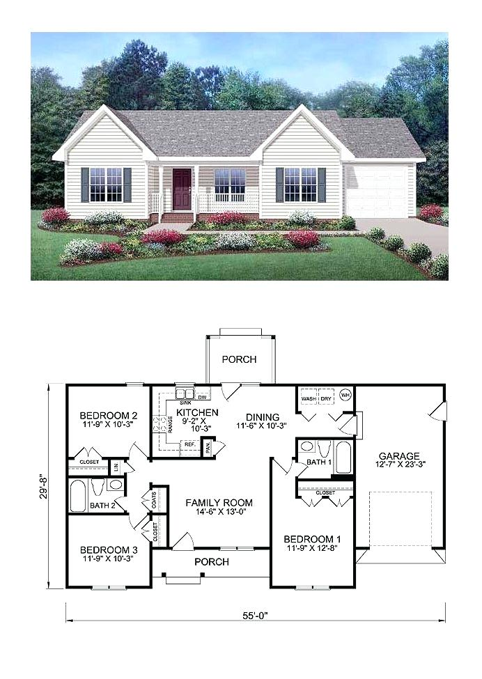 The Sims House Plans Exclusive Cool House Plan Id Total Living Area Sq Ft 3 Bedrooms And 2 Bathroom Ranch Style House Plans Family House Plans House Blueprints