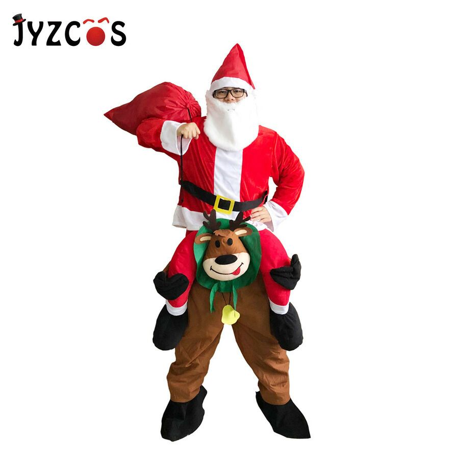 Christmas Carnival Theme Outfit.Santa Claus Deer Christmas Vintage Dress Cosplay Carnival