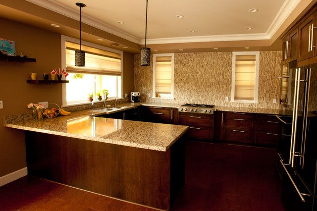 Open Concept No Upper Cabinet U Shape Kitchen From Kitchen With No Top  Cabinets