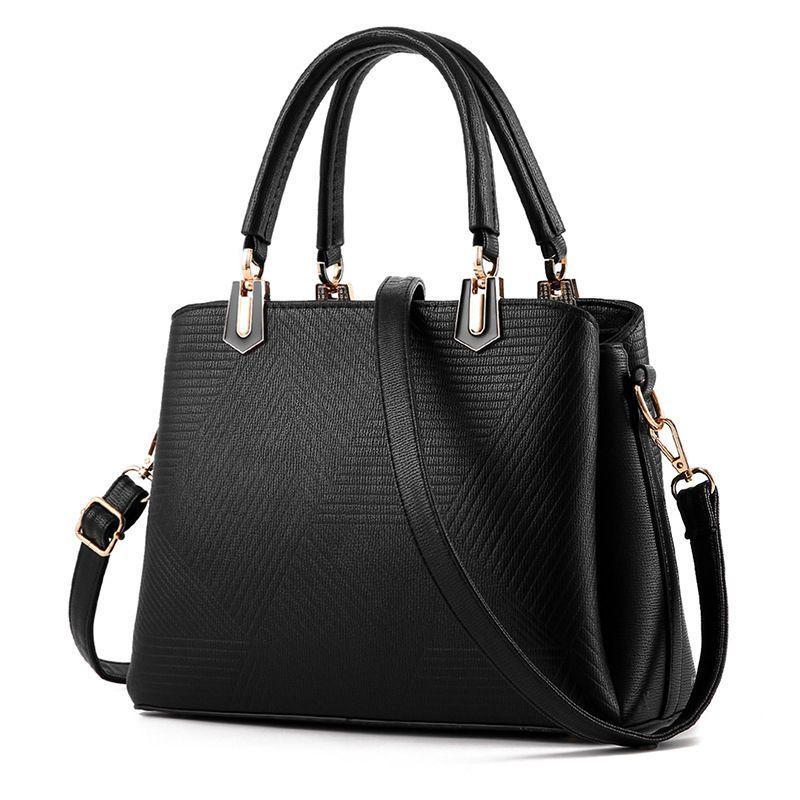 6569db4467de Ladies Shoulder Tote Handbag Faux Leather Hobo Purse Crossbody Bag Hrwg-9207
