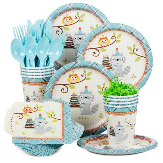 Happy Woodland Boy Birthday Party Standard Tableware Kit Serves 8  sc 1 st  Pinterest & Happy Woodland Boy Birthday Party Standard Tableware Kit Serves 8 ...