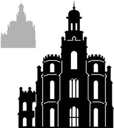 Logan Temple Outline Google Search Lds Temples Silhouette