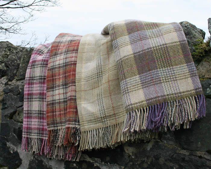 Shetland Wool Throws