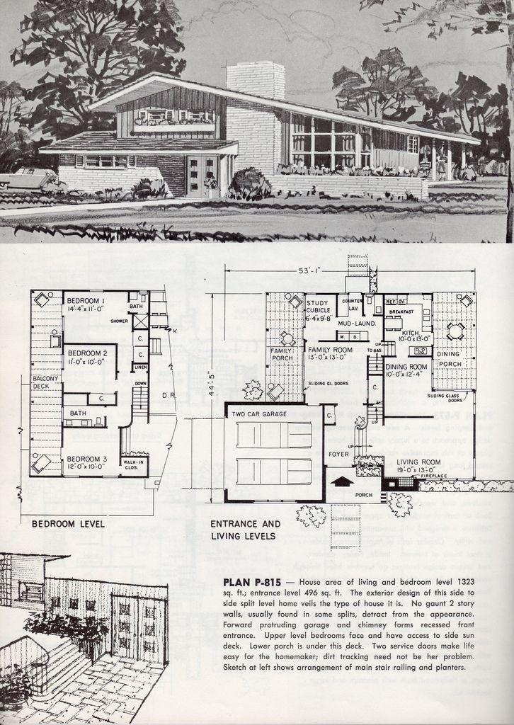 1963 | Mid century modern house plans, Modern floor plans ...