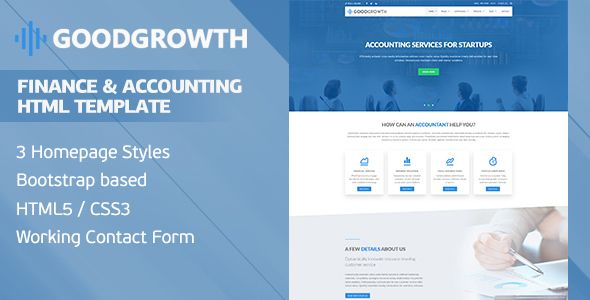 GoodGrowth - Finance  Accounting HTML Template Pinterest