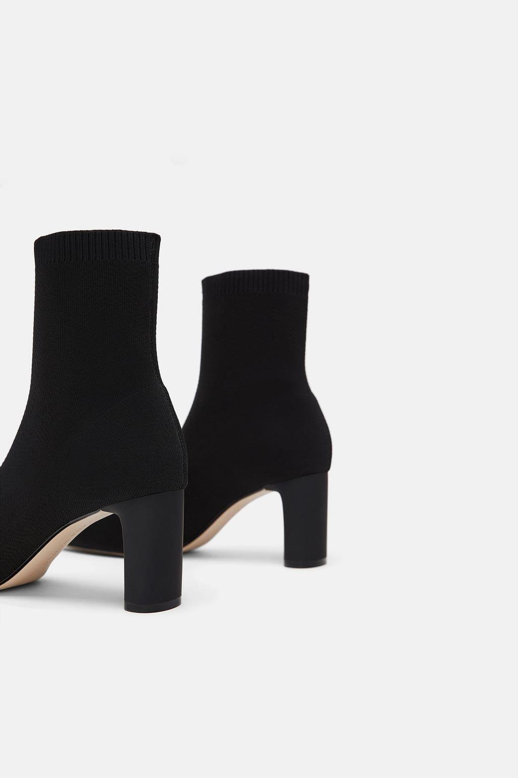 282fe72caac9 Fabric heeled ankle boots | Shoooooessss | Heels, Ankle, Boots