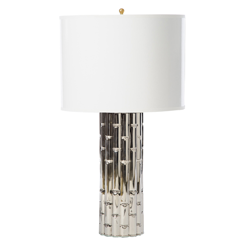 Barbara Cosgrove Bamboo Shiny Nickel Table Lamp