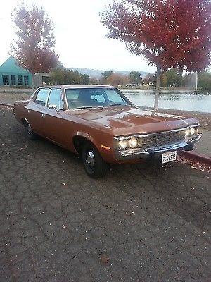 1973 AMC Matador (Base Military Police Car) Sedan, 304 2bbl V8/727 Auto/3.15 Twin-Grip Axle and HD suspension and cooling