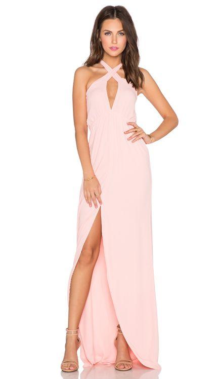 Helena Quinn Mariella Maxi Dress in Blush