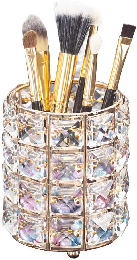 Aila Makeup Brush Holder Organizer Golden