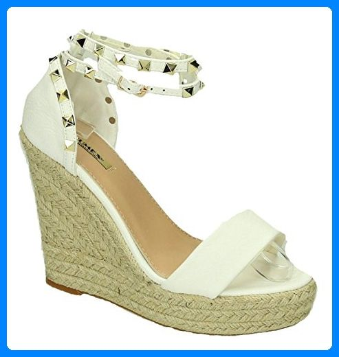 Bequeme Damen Riemchen Keil Sandaletten Pumps Keilabsatz Wedges High Heels  Peep Toes L5 (40, 3e981dbbc2