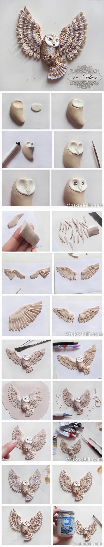 Лепка совы из полимерной глины / Лепка / В рукоделии