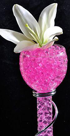Pink Water Gel Beads For Floral Arrangements Gel Beads Water