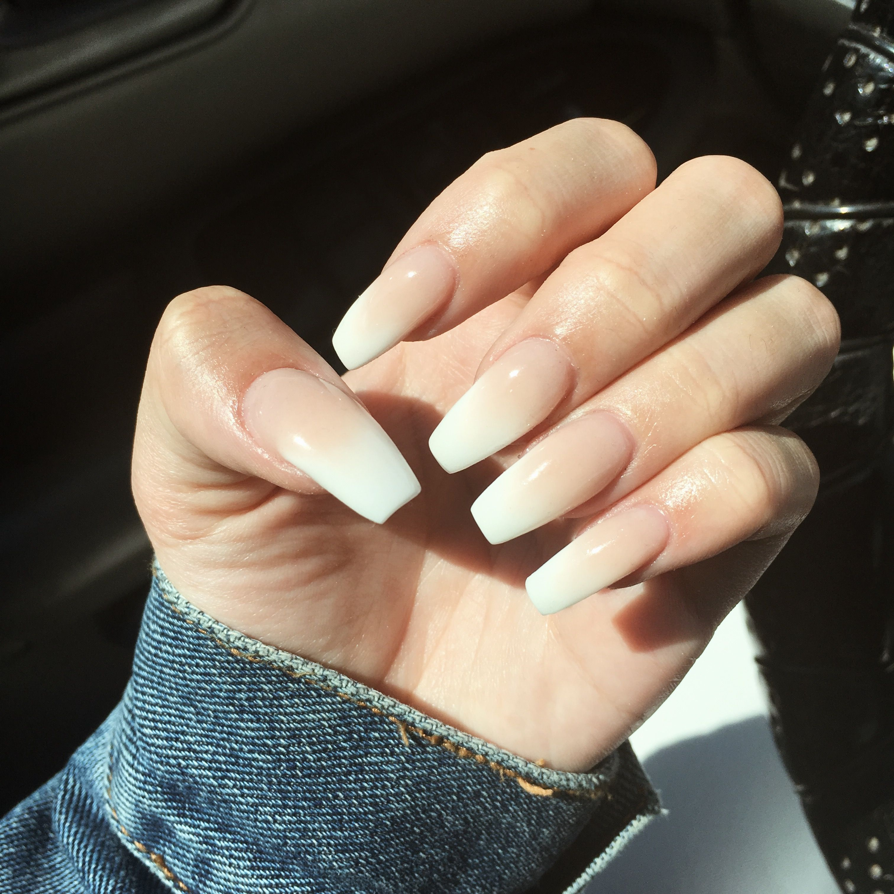 French Ombré Coffin Nails | Nails | Pinterest