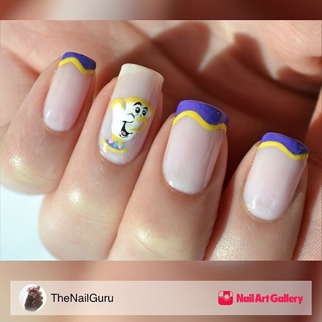 nailsmagazine: Because #BeautyandtheBeast is trending on this #manimonday! #nailart #notd  #disneynails #nailsmagazine Be our guest on #nailartgallery and upload your manis  share for free! #beourguest