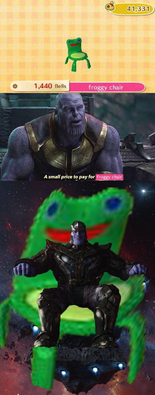 Froggy Chair in 2020 Animal crossing memes, Animal