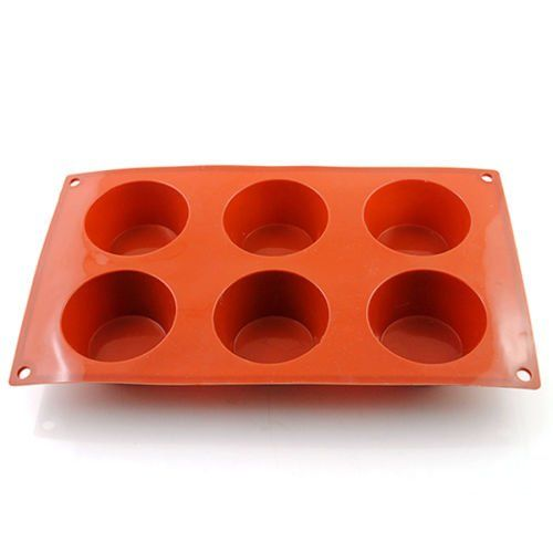 New Vermilion 6 Round Silicone Cookie Baking Mold Muffin Handmade Soap Moulds Biscuit Pan Tray This Is An Amazon Af Handmade Soap Molds Baking Molds Baking